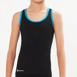 Racerback Tank Top With Color Stripes