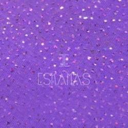 Gasa lila purpurina