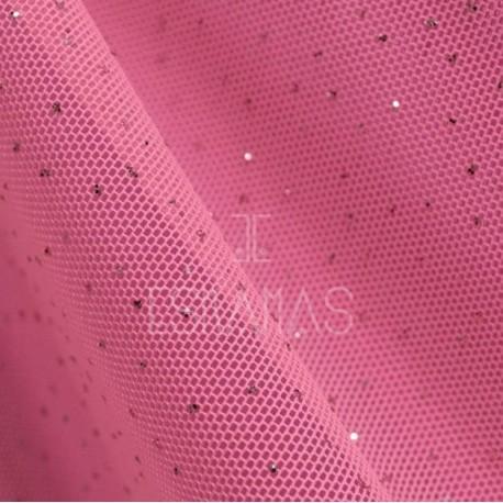 Bubble Gum Pink Chiffon With Purpurin
