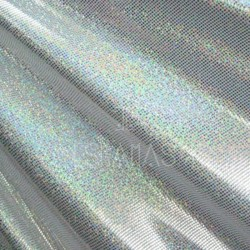 Lycra holograma blanca