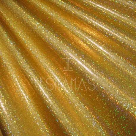 Mini Hologram Golden Spandex