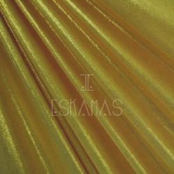 Lycra holograma espejo dorada