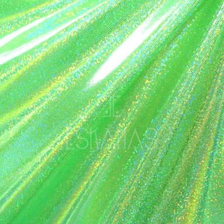 Lycra holograma verde