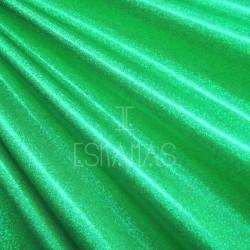 Lycra holograma verde esmeralda