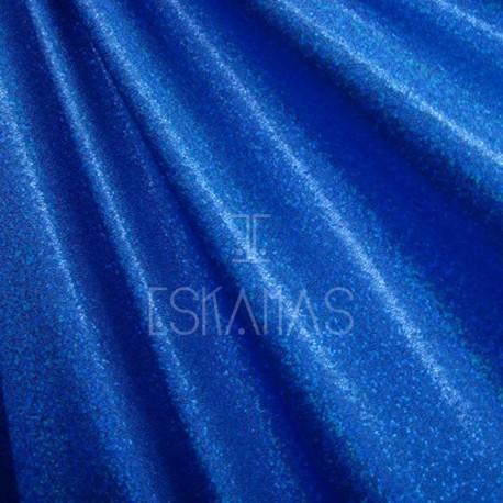 Lycra holograma azul
