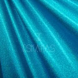 Lycra holograma turquesa espejo