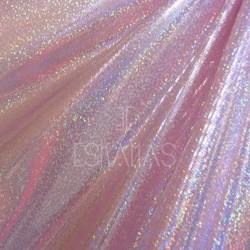 Lycra holograma rosa