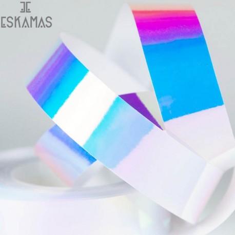 Forro espejo irizado colores frios